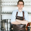 Justin Vann at his former post as Oxheart sommelier