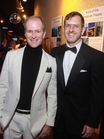 Stages Repertory Theatre gala, April 2013, Chairs Shannon Hall, left, and Marcus Sloan