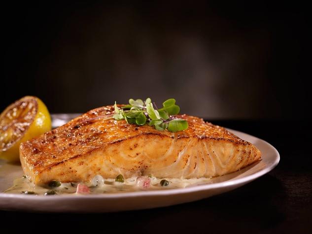 Del Frisco's Double Eagle Steakhouse pan-seared Atlantic salmon