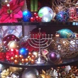 menorah Christmas balls decorations at Tony's December 2014.