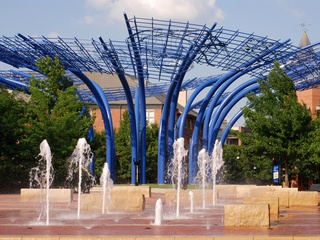 Blueprints sculpture in Addison