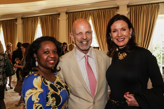 Carme Williams, from left, Clifford Pugh and Karen Love at the Passion for Fashion luncheon March 2014