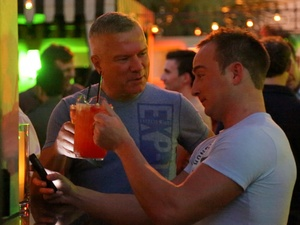 gay dating video, December 2012, F Bar