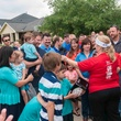 Gracepoint Homes and Keller Williams home renovation surprise May 2014 Crowd