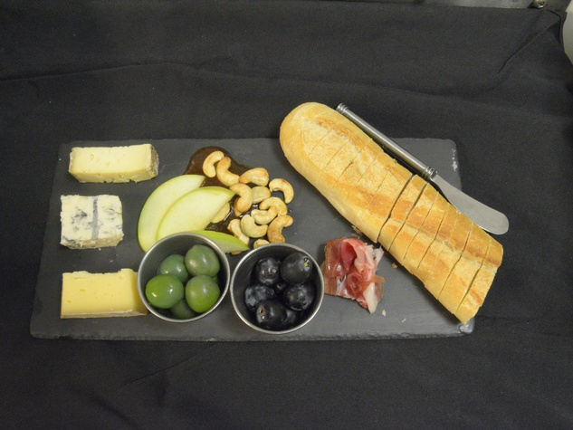 Antonelli cheese plate at Violet Crown cinema