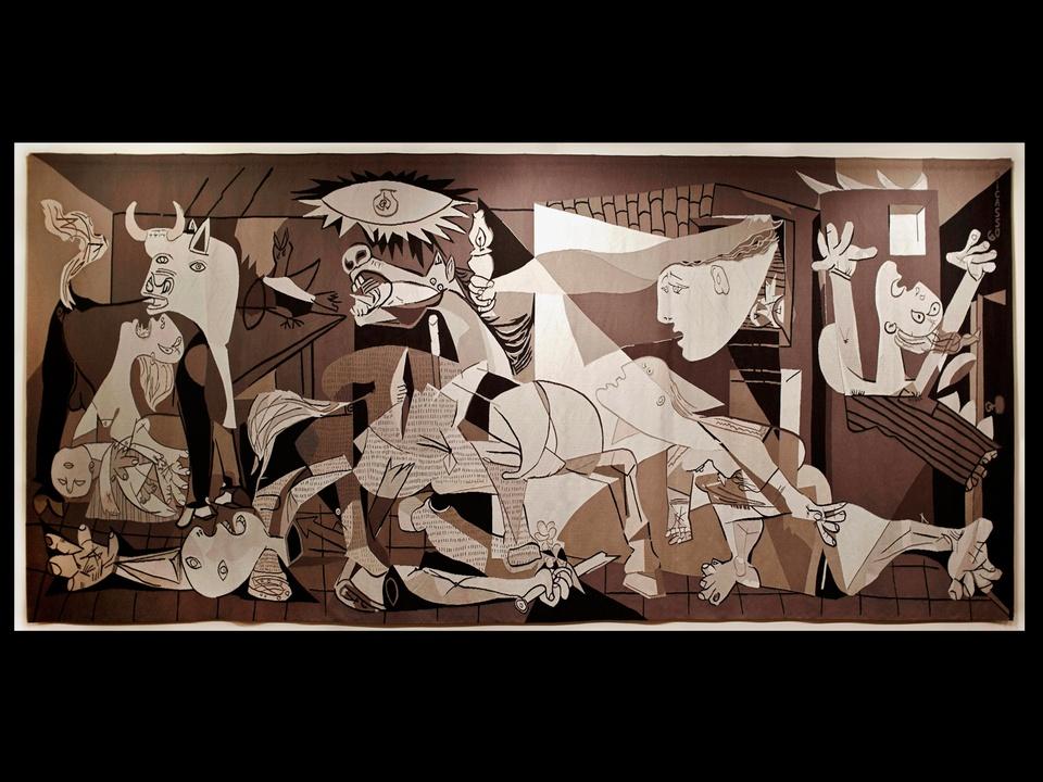 MFAH, Dürbach, Guernica tapestry from Rockefeller