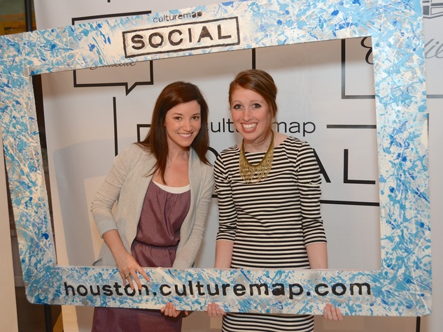 52 Ashley Stevenson, left, and Maggie Gomez at the CultureMap Social at Gremillion and Co. Fine Art March 2015