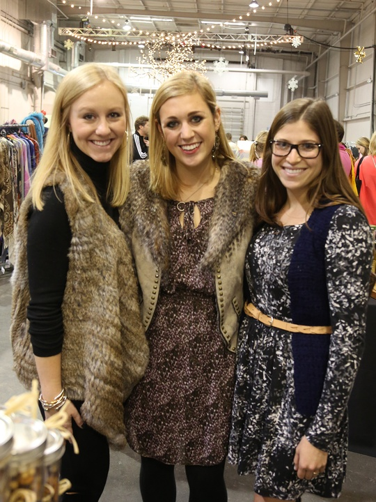 Hannah Robbins, from left, Stacy Skolnik and Jennifer Putterman at the CultureMap Pop-Up Shop December 2014