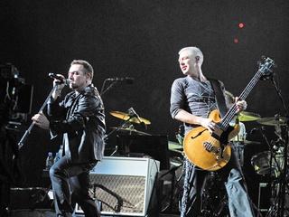 News-U2 Concert-Oct. 2009-Bono-Adam Clayton