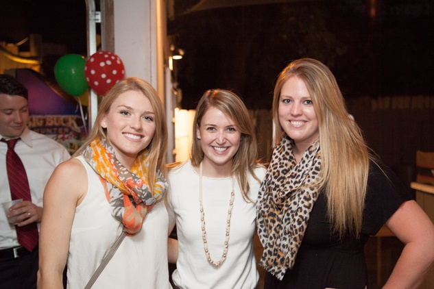 2538 Jessica Badger, from left, Allisa Hicks and Megan Goings at the Friends of DePelchin Fall Carnival at Jackson's Watering Hole