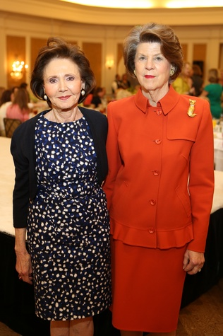 Cyvia Wolff, left, and Judy Margolis at the St. Luke's Friends of Nursing luncheon March 2015