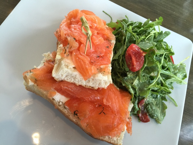 Marene Drexel House April 2015 lox on a bagel with cream cheese