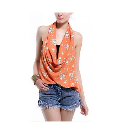 shop akira floral print top halter