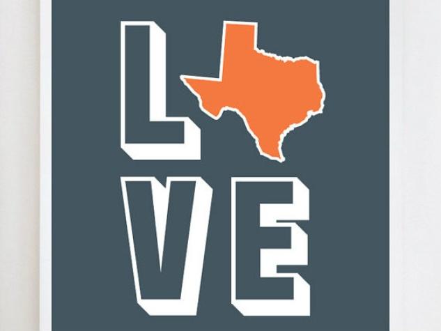 Love Texas Print