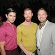 Oscar Zuniga, from left, James Phillips and Michael Broderick at the Q The Salon Moroccan theme party September 2013