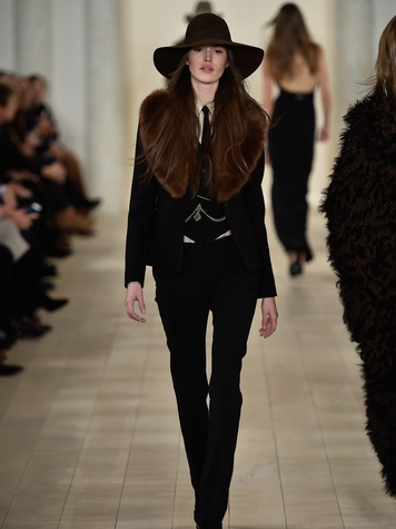 Clifford Fashion Week New York fall 2015 Ralph Lauren February 2015 Look 39