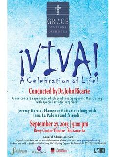 Grace Symphony Orchestra Viva! A Celebration of Life!