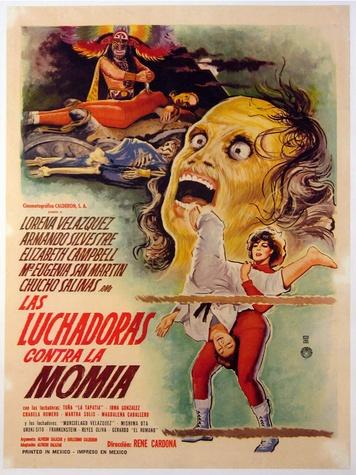 Wrestling Women vs. The Aztec Mummy movie poster Cinco de Mayo movies