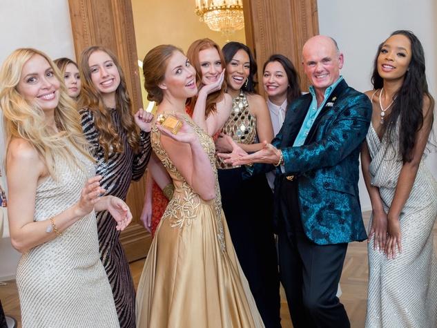 News, Roja Dove event, Dec. 2015, models with Roja Dove