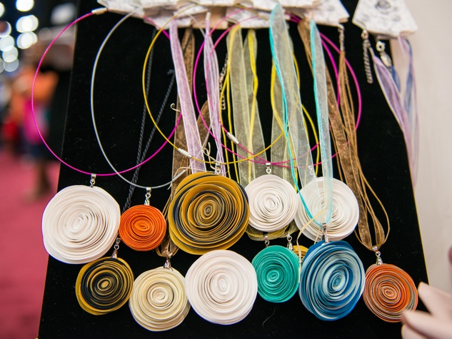 1 Necklaces at the Paper Flower Artistry January 2015