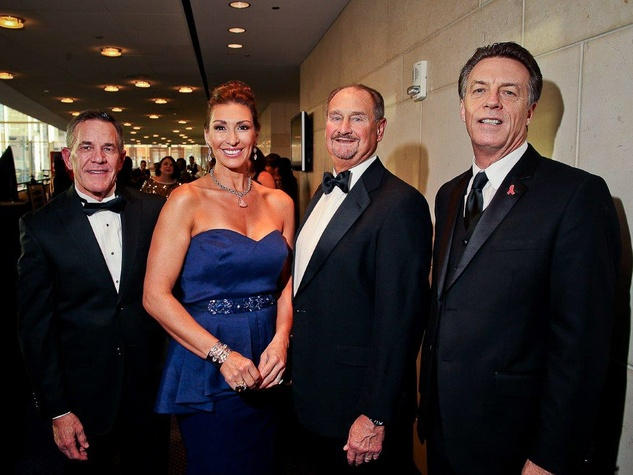 Kermit Eisenhut, from left, Angelica and Ed Chapman and Dan Snare at Bering Omega's Sing for Hope