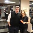 Chris Beverly and Lisa Gochman at Roland Maldonado's birthday party at Whataburger