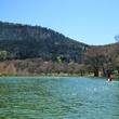 Hill over water in Garner State Park