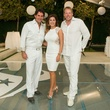 2 Michael Garfield, from left, Deborah Elias and Michael Holthouse at the Texans White Party September 2014