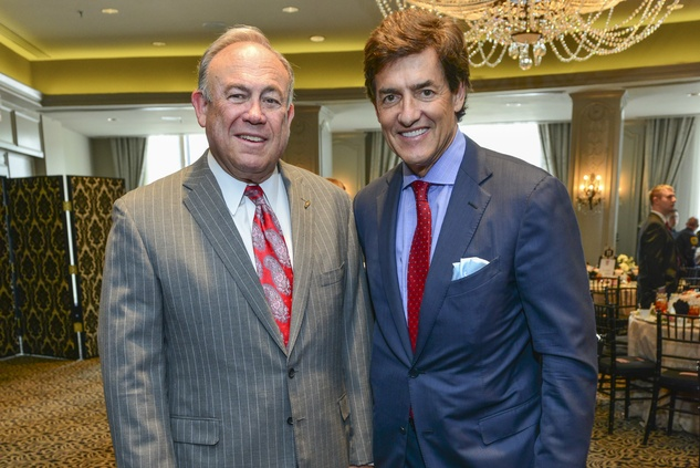 Charles Neff, left, and Nick Florescu at the Crime Stoppers luncheon May 2014