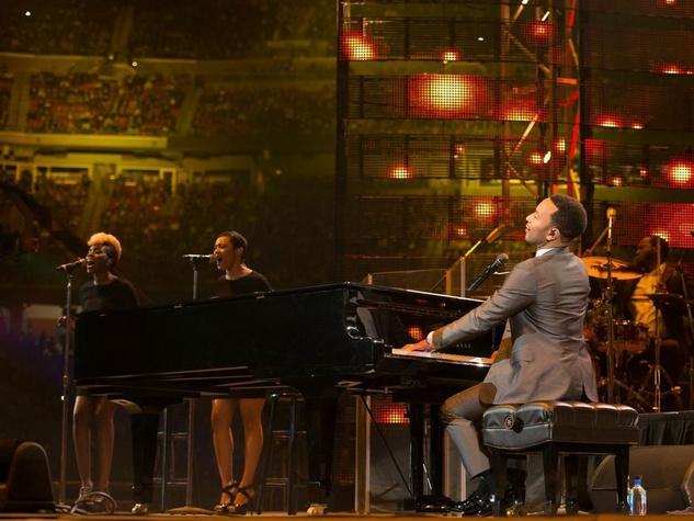 John Legend piano