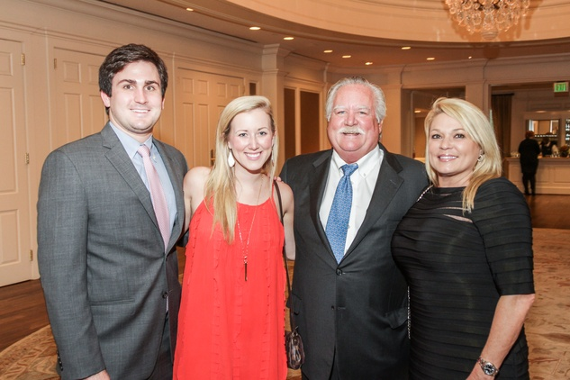 Eric and Allison Aubel, from left, and Arthur and  Holly Smith at the Hospice Spirit Award dinner October 2014