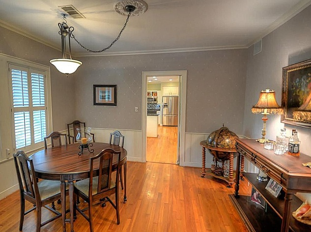 Heights house for sale September 2013 405 Woodland St. dining room