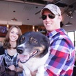 Christine McKinnon, from left Jeremy Hunt and Howdy at Friends for Life Texans TAILgate party November 2013