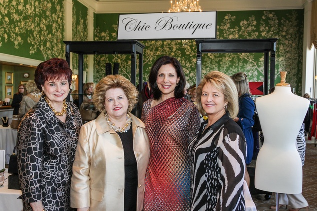6 Carol Sharpe, from left, Brenda DeVore, Jeanne Ruberti and Debbie Rogers at the Salvation Army luncheon April 2014