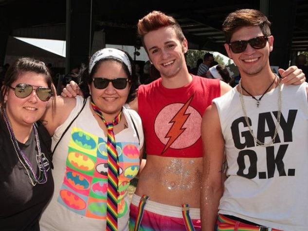 Austin Pride Festival festivalgoers