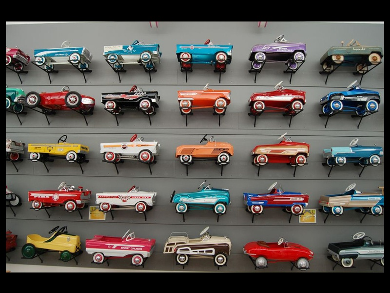 347, Children's Museum of Houston, vintage pedal car exhibit, November 2012, BLACK SPACE