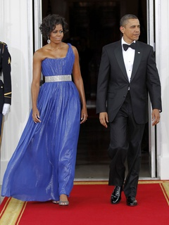 News_Michelle Obama_Barack Obama_state dinner_May 2010