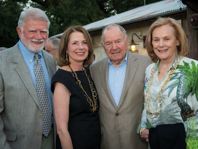 Houston Zoo Conservation Gala 2015 Gardner & Deborah Cannon, Anne & Charles Duncan