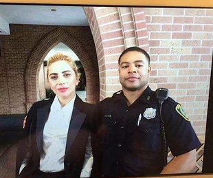 Houston, Lady Gaga's Super Sunday, Super Bowl LI, Feb 2017, Lady Gaga at St. Martins Episcopal Church Houston