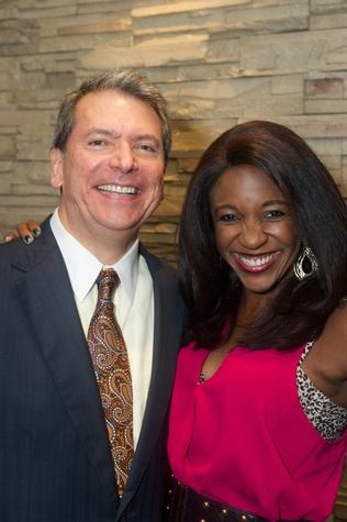 24 Roland Garcia and Jacquie Baly at the Holly Rose Ribbon Shades of Roses kick off party July 2014