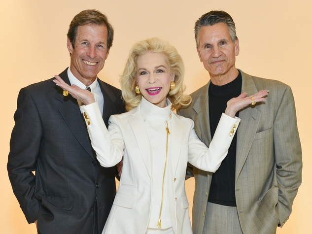 14 Jeff Aquilon, from left, Lynn Wyatt and Tony Spinelli at the I Am Waters Luncheon April 2014