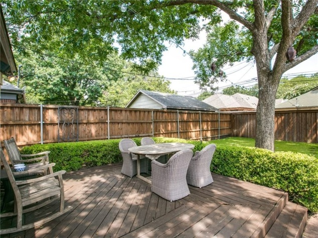 Backyard at 5839 Marquita Ave. in Dallas