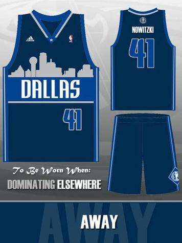 Dallas Mavericks skyline jersey away