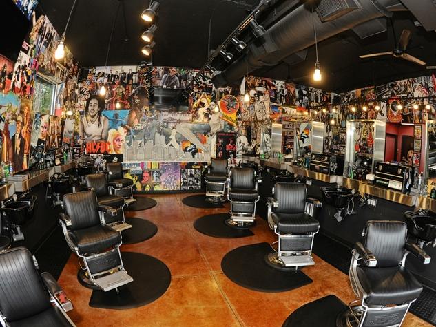 Floyd's Barber Shop interior