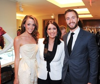 Jennifer Mohler, Julie Roberts, Justin Makris at Elizabeth Anthony Generations of Glamour