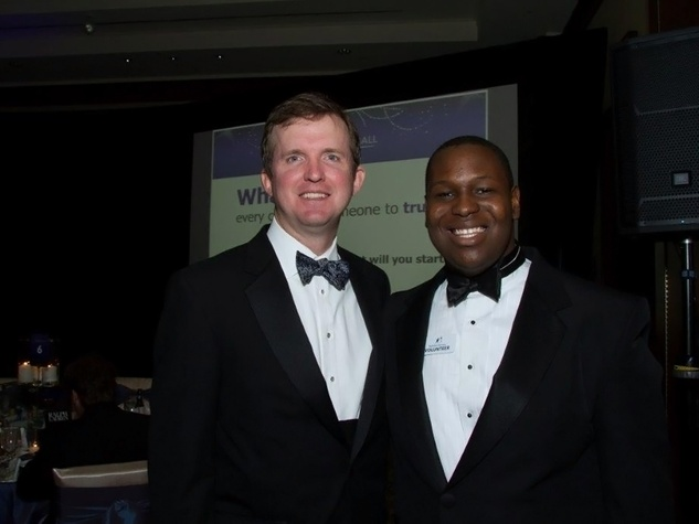 Bradley Dennison, left, and Little Brother Timothy at the Big Brothers Big Sisters Gala September 2014
