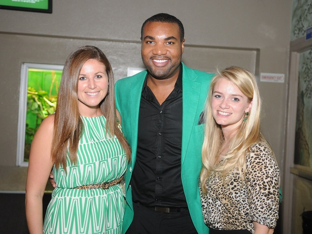 9699 Laura Carr, from left, Will Matthews and Beth Hockett at the Scales and Cocktails Houston Zoo Flock event