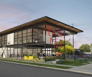 Heights Mercantile exterior rendering