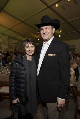 Tammy and Joel Cowley at the Memorial Park Conservancy benefit February 2015