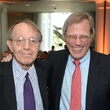 Jonathan Kozol, left, and Stephen Klineberg at the Children at Risk luncheon October 2014